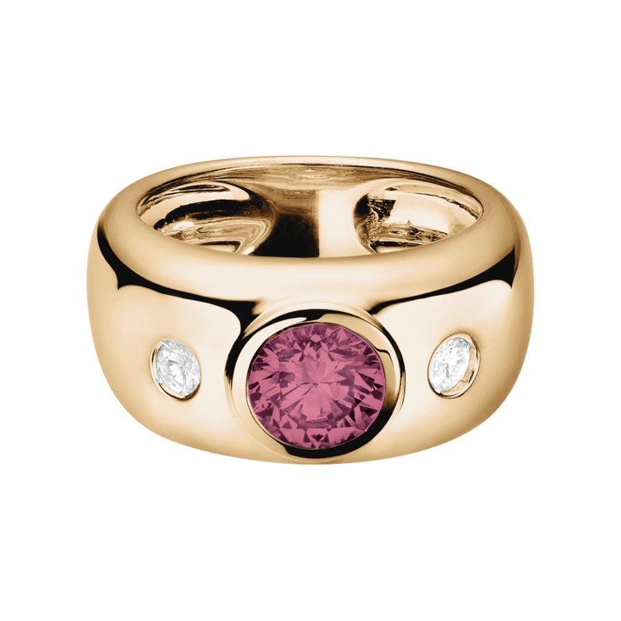 Naples Tourmaline pink in Rose Gold