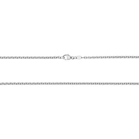 Anchor Chain Necklace in Platinum