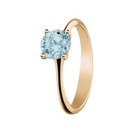 Basel Aquamarine blue in Rose Gold