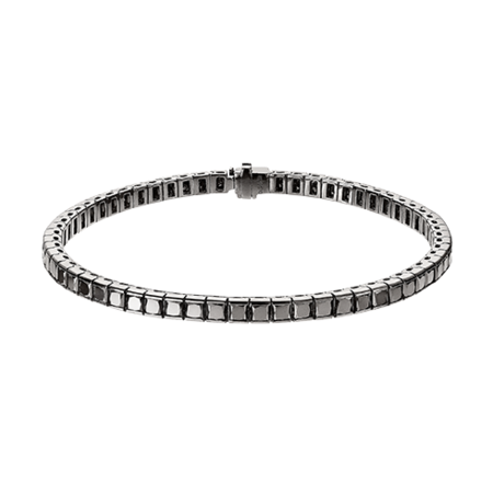 Black Diamond Bracelet in White Gold