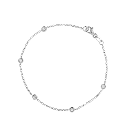Bracelet Circuit 0.03 carat in White Gold