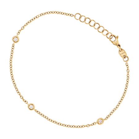 Bracelet Circuit 0.10 carat in Yellow Gold