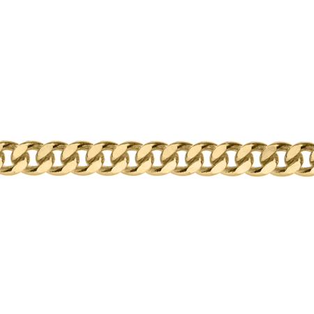 Curb Chain Necklace in Yellow Gold