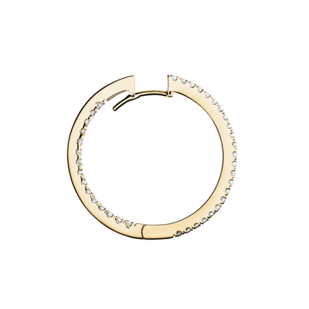 Diamond Hoop Earrings III in Yellow Gold