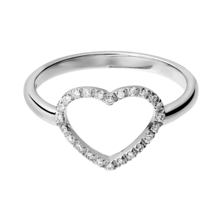 Enchanté Ring Heart in White Gold
