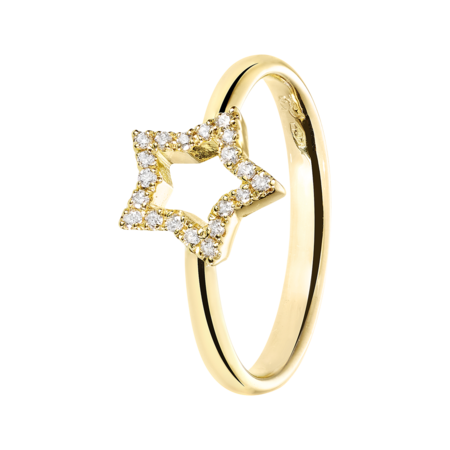 Enchanté Ring Star in Yellow Gold