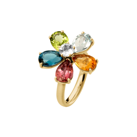 Flowers Ring small in Yellow Gold