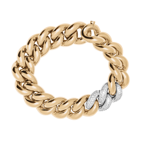Gold Bracelet IV with Diamonds in Rose Gold