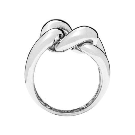 Knot Ring Classics in White Gold
