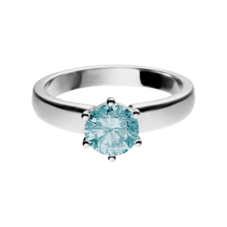 Malmö Aquamarine blue in Platinum