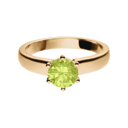 Malmö Peridot green in Rose Gold