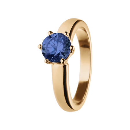 Malmö Tanzanite blue in Rose Gold
