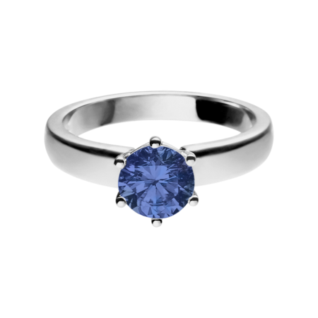 Malmö Tanzanite blue in White Gold