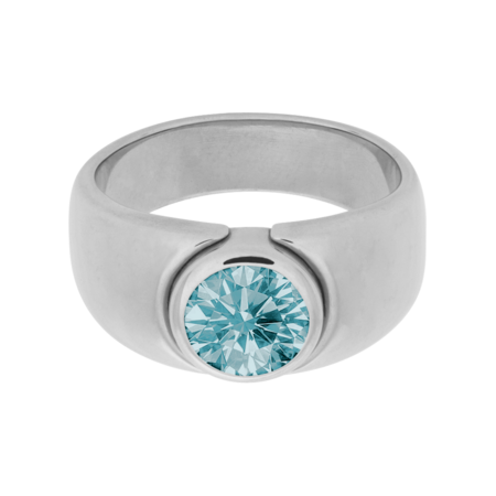 Mantua Aquamarine blue in White Gold