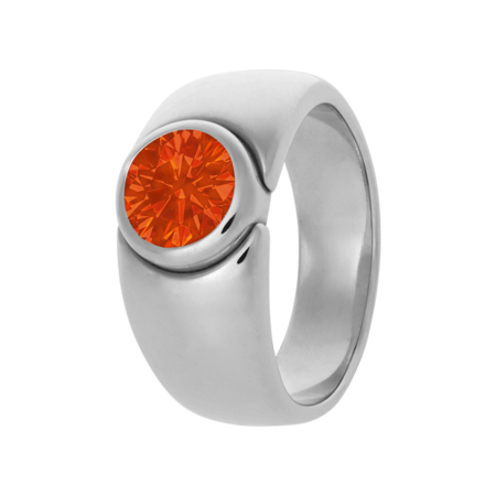 Mantua Fire Opal orange in White Gold