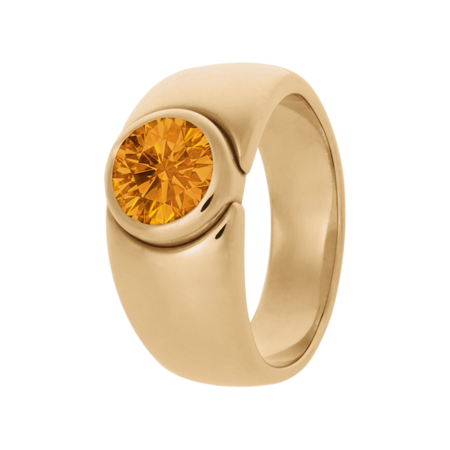 Mantua Madeira Citrine orange in Rose Gold
