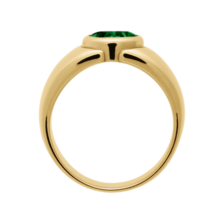 Mantua Tourmaline green in Yellow Gold