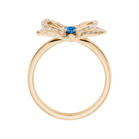 Papillon Ring Aquamarine in Rose Gold