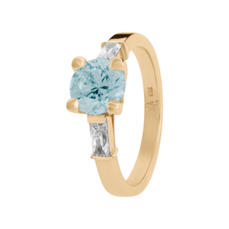 Paris Aquamarine Blue in Rose Gold