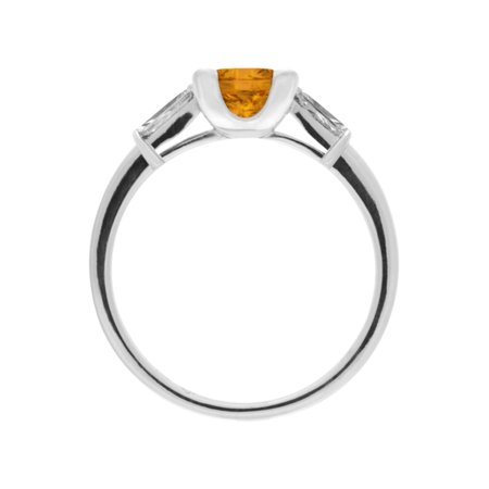 Paris Madeira Citrine orange in Platinum