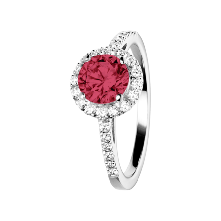 Prague Ruby red in Platinum