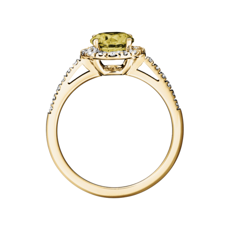 Prague Sapphire yellow in Yellow Gold