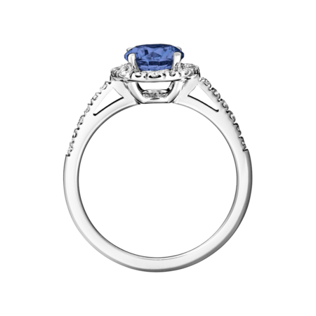 Prague Tanzanite blue in Platinum