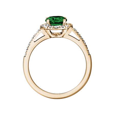 Prague Tourmaline green in Rose Gold