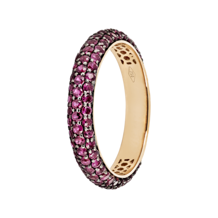 Ring Couleur Rouge in Rose Gold