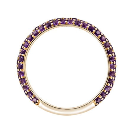 Ring Couleur Violet in Yellow Gold