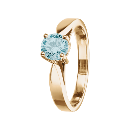 Vancouver Aquamarine Blue in Rose Gold