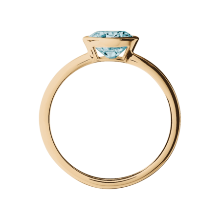 Vienna Aquamarine Blue in Rose Gold