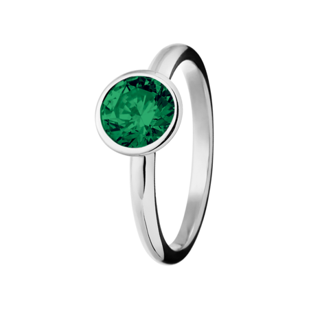 Vienna Emerald green in Platinum