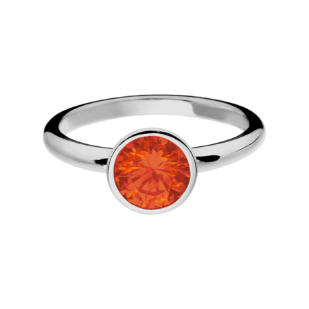 Vienna Fire Opal orange in White Gold