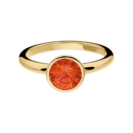 Vienna Fire Opal orange in Yellow Gold