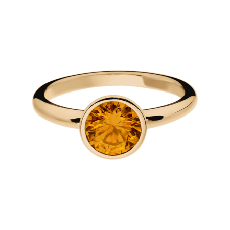 Vienna Madeira Citrine orange in Rose Gold