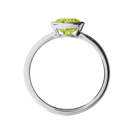 Vienna Peridot green in Platinum