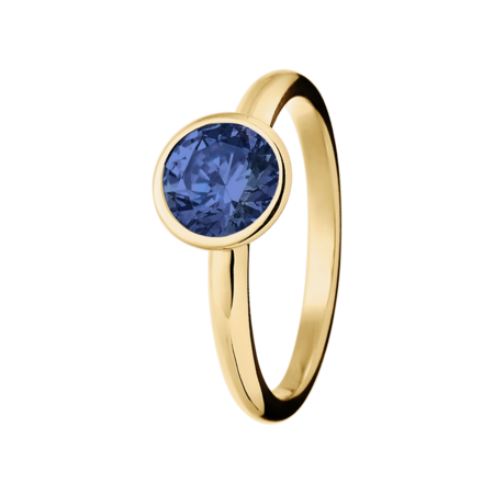 Vienna Tanzanite blue in Yellow Gold