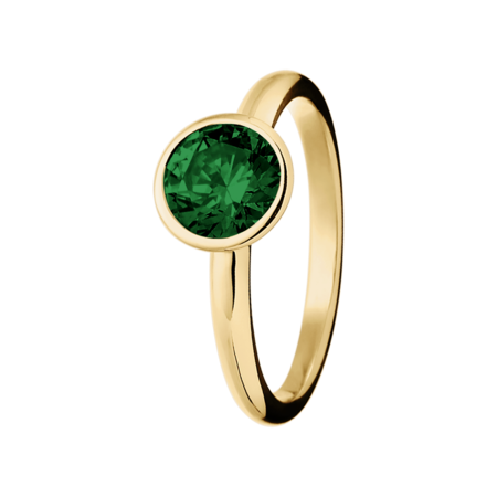 Vienna Tourmaline green in Yellow Gold