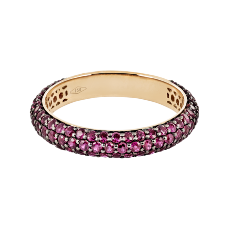 Bague Couleur Rouge in Or rose