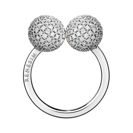 Bague Diamant & Diamant in Or gris