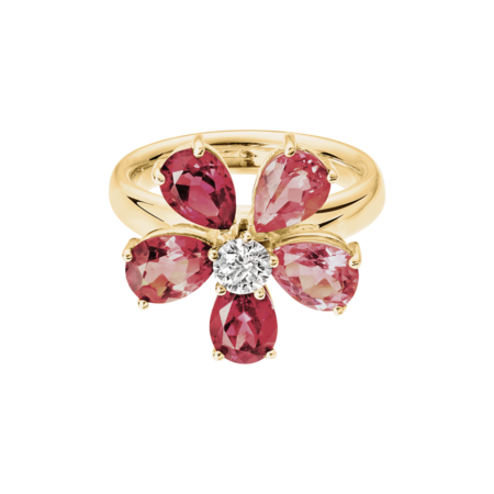 Bague Flowers Tourmaline in Or jaune