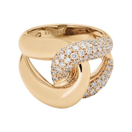 Bague Noeud Classics avec diamants in Or rose