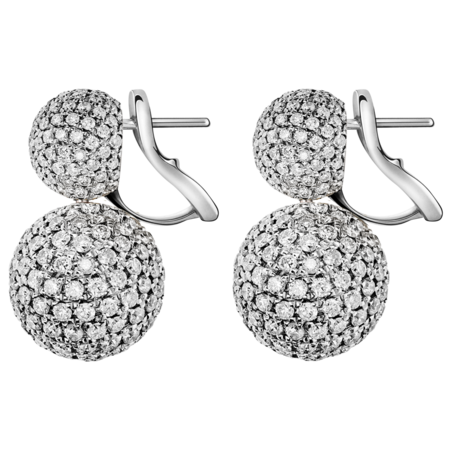 Boucles d'oreilles Diamant & Diamant in Or gris