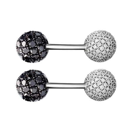 Boutons de manchette en Diamant in Or gris