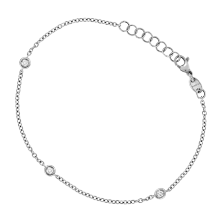 Bracelet Circuit 0.07 carat in Or gris