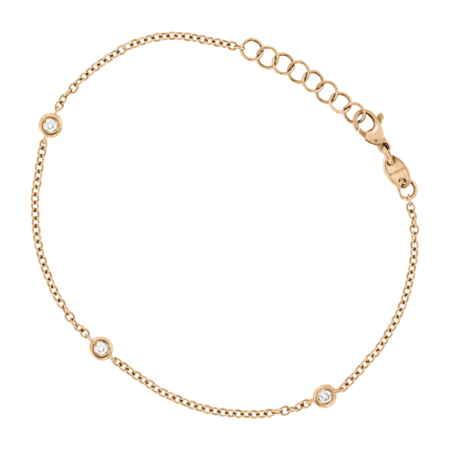 Bracelet Circuit 0.07 carat in Or rose