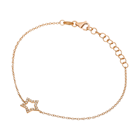 Bracelet Enchanté Étoile in Or rose