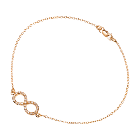 Bracelet Enchanté Infini in Or rose