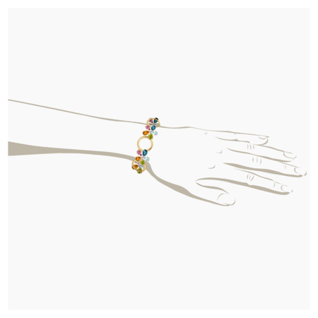 Bracelet Flowers in Or jaune